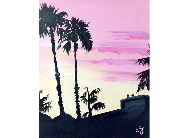 Sunset Palms Santa Barbara Painting Class