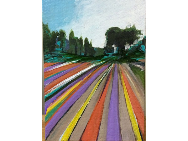 Tulip Fields Painting in Santa Ynez Valley
