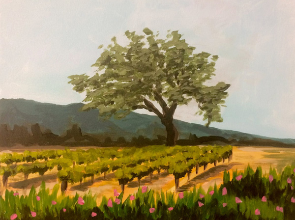Gainey Painting in the Vineyard