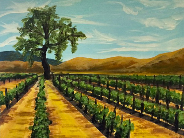 Sarloos Painting in the Vineyard