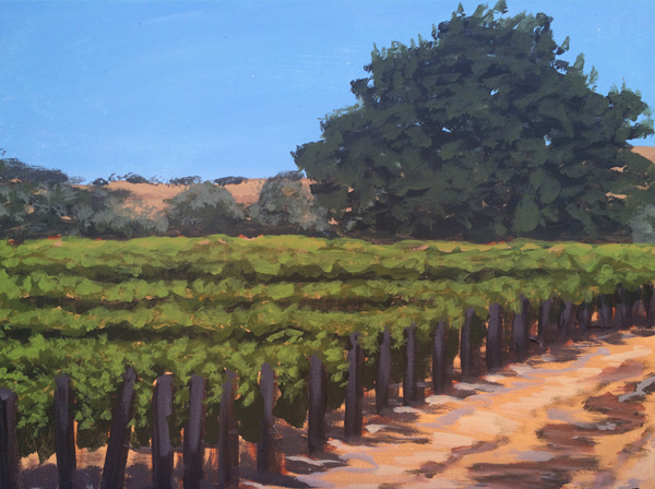 Sunstone Painting in the Vineyard