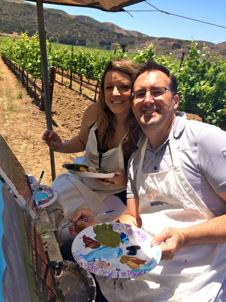 Painting in the Vineyard, art classes, wine and art