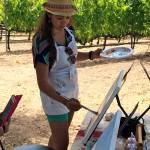 Painting in the Vineyard, art and wine, art classes, Santa Ynez