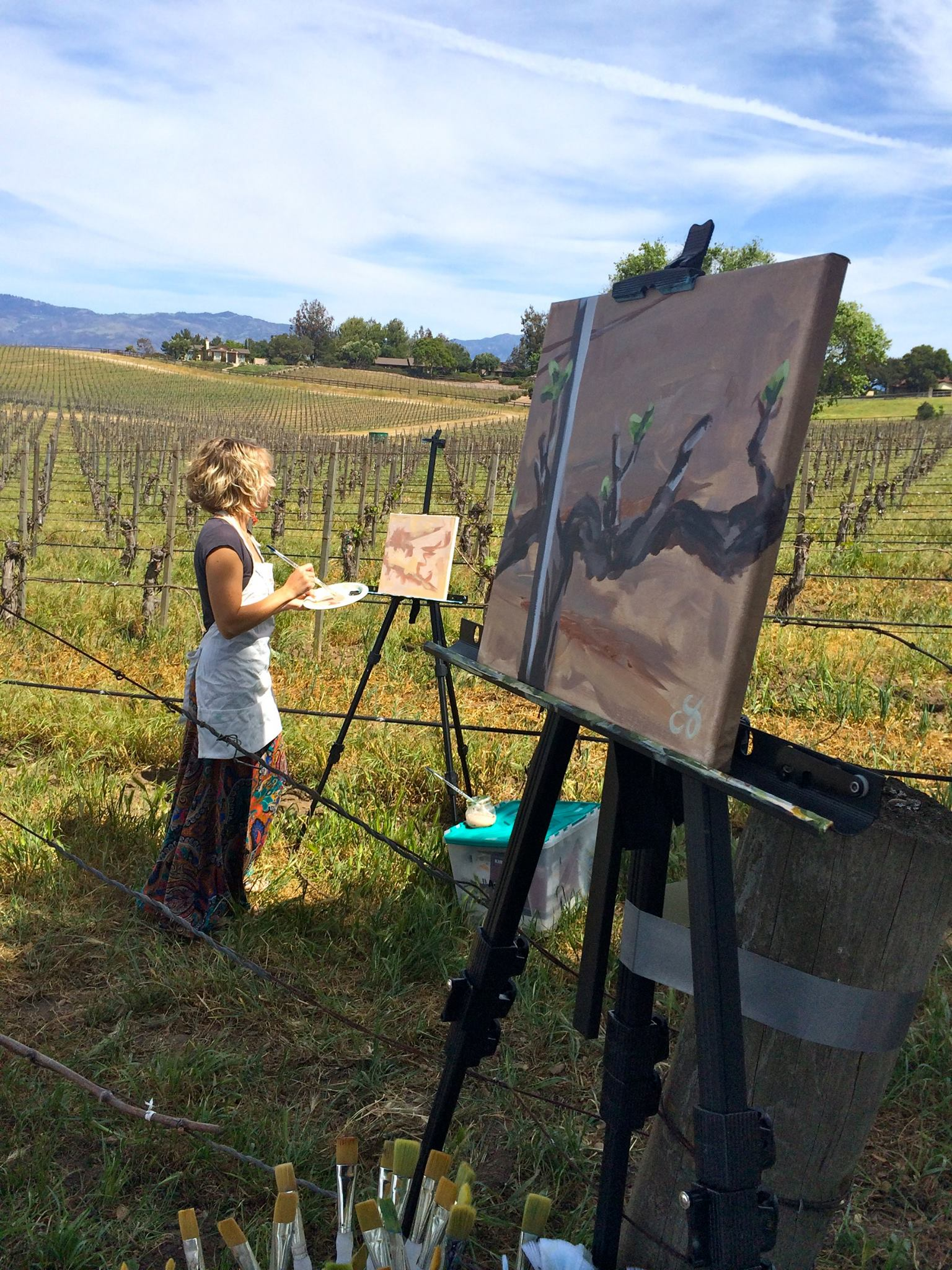 Painting in the Vineyard, Creativity