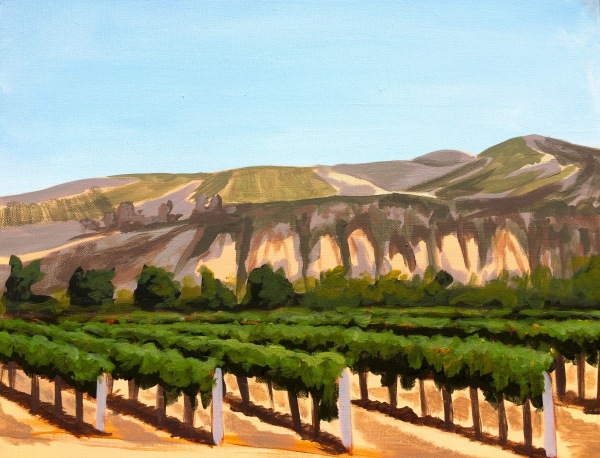 Painting in the Vineyard Artist Christi Schaeffer Sanford Winery