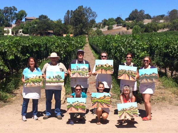 Painting in the Vineyard, santa ynez valley, santa barbara, things to do in wine country