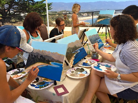Things to do in santa barbara, painting, beach activities
