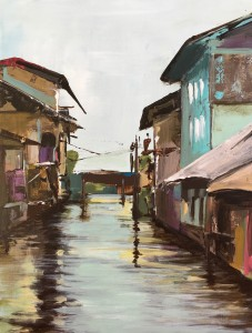 Dal Lake India Kashmir Sringar, Painting, lake living