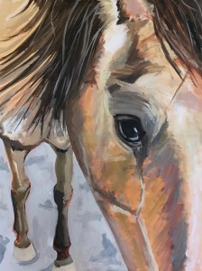 Horse Painting, equine art, Santa Ynez Valley