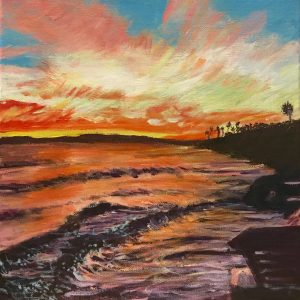 Kerry Robinson sunset ocean painting
