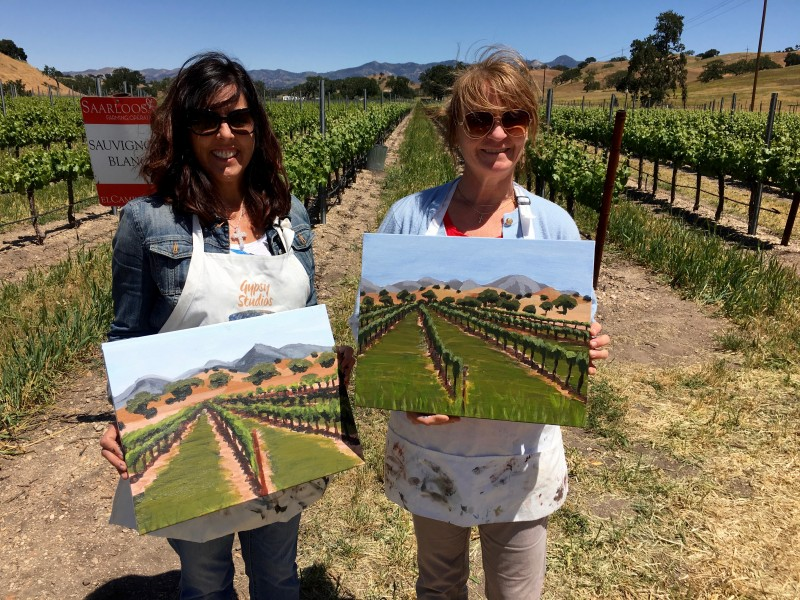 Saarloos & Sons Painting in the Vineyard Los Olivos Things to do in Santa Ynez Valley Santa Barbara