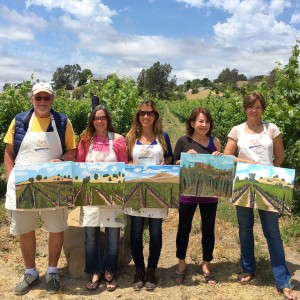 Things to do in Santa Ynez Valley Painting in the Vineyard Brander Vineyard Winery Events activities