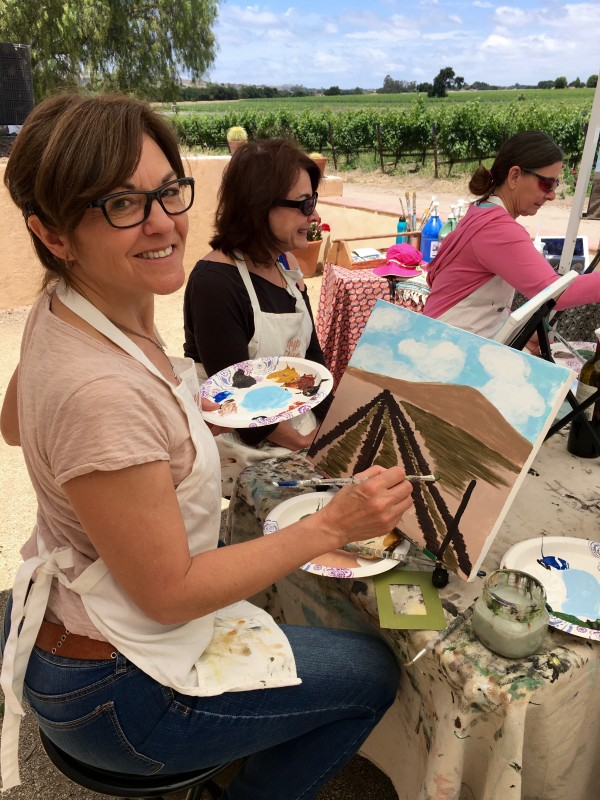 Things to do in Santa Ynez Valley Painting in the Vineyard Winery Events Brander