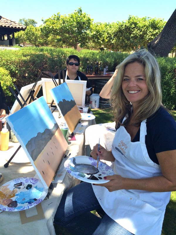 Things to do in Santa Ynez Valley Santa Barbara Painting in the Vineyard Winery Events Activities Gainey