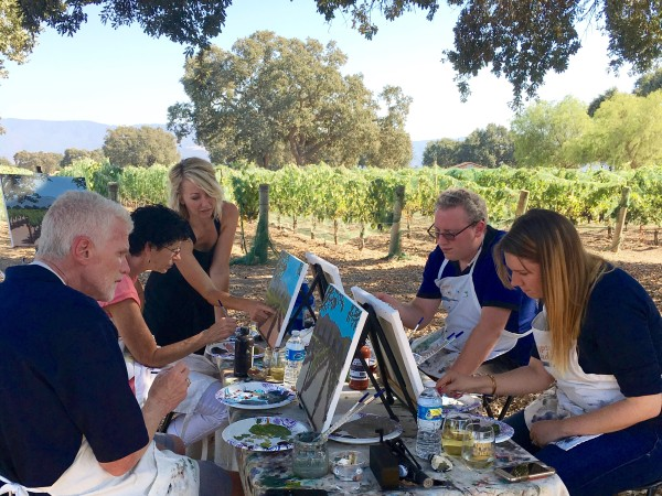 Things to do in Santa Ynez Valley Wine Tasting and Painting in the Vineyard Santa Barbara County Events