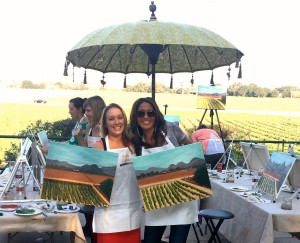 Paint in the Vineyard Santa Ynez Valley Santa Barbara Things to do in Santa Barbara County, Santa Ynez Valley, Los Olivos, Kalyra Winery Event Activities