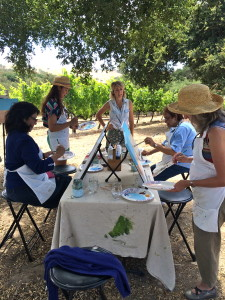 Paint in the Vineyard Santa Ynez Valley Things to do in Santa Barbara County, Santa Ynez Valley, Los Olivos, Andrew Murray Winery Event Activities