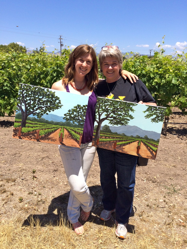 Events things to do in Santa Ynez Valley, Santa Barbara County Wineries Group activities Painting in the Vineyard Roblar Winery