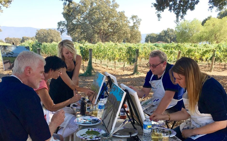 Painting in the Vineyard Group Activities in Santa Ynez Valley, Santa Barbara