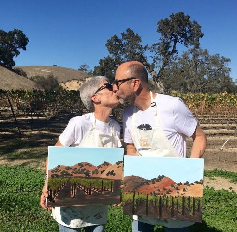 Things to do in Santa Ynez Valley Painting in the Vineyard Winery Events Wine Tasting Kita