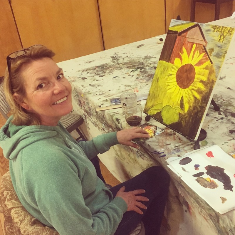 6 week evening beginner acrylic painting class gypsy for Painting classes ct
