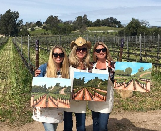 Events things to do in Santa Ynez Valley, Santa Barbara County Wineries Painting in the Vineyard Mothers Day Winery Wine tasting Brander