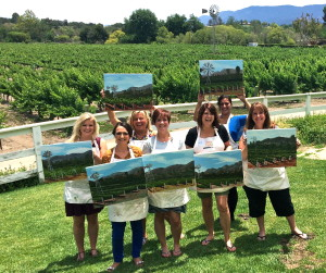 Paint in the Vineyard Santa Ynez Valley, Solvang, Things to do in Santa Barbara County, Santa Ynez Valley, Los Olivos, Lincourt Winery Event Activities, wine tasting