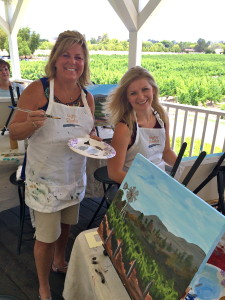 Paint in the Vineyard Santa Ynez Valley Things to do in Santa Barbara County, Santa Ynez Valley, Los Olivos, Lincourt Winery Event Activities, wine tasting