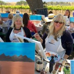 Things to do in Santa Ynez, Santa Barbara private painting in the vineyard wine tasting event, Mother's Day