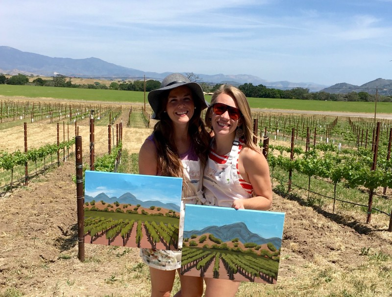 Paint in the Vineyard Santa Ynez Valley Things to do in Santa Barbara County, Santa Ynez Valley, Los Olivos, Kalyra Winery Event Activities