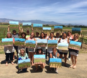 Paint in the Vineyard Santa Ynez Valley Things to do in Santa Barbara County, Santa Ynez Valley, Los Olivos, Kalyra Winery Event Activities, wine tasting