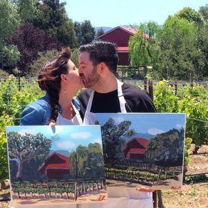Private painting in the vineyard, Santa Ynez Valley Things to do in Santa Barbara County, Santa Ynez Valley, Los Olivos, Winery Event Activities