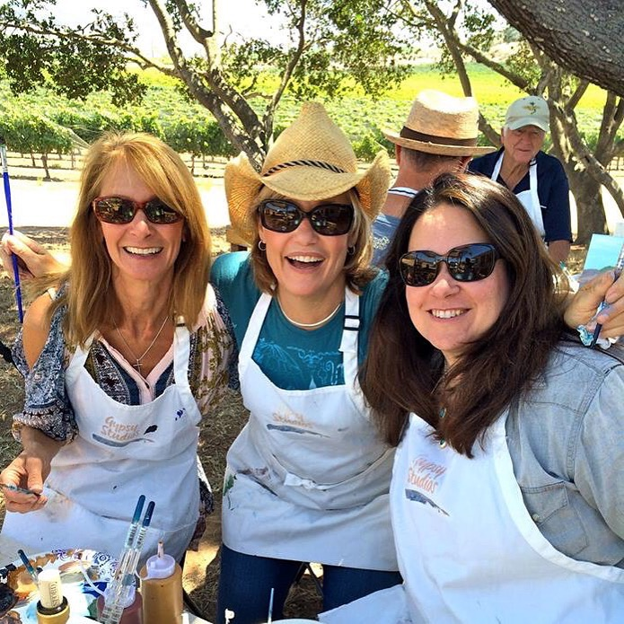Private painting in the vineyard,Santa Ynez Valley Things to do in Santa Barbara County, Santa Ynez Valley, Los Olivos, girls trip Event Activities