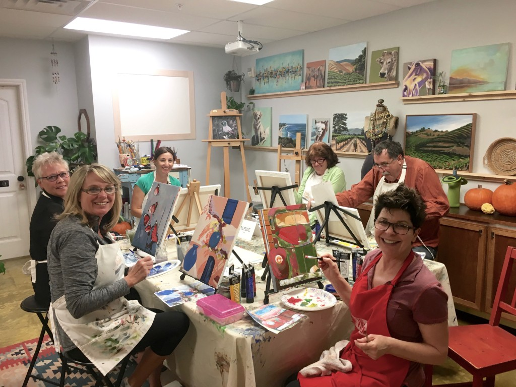 Beginner Painting Classes in Acrylic Art Class, art lessons Santa Ynez Solvang Buellton Los Olivos