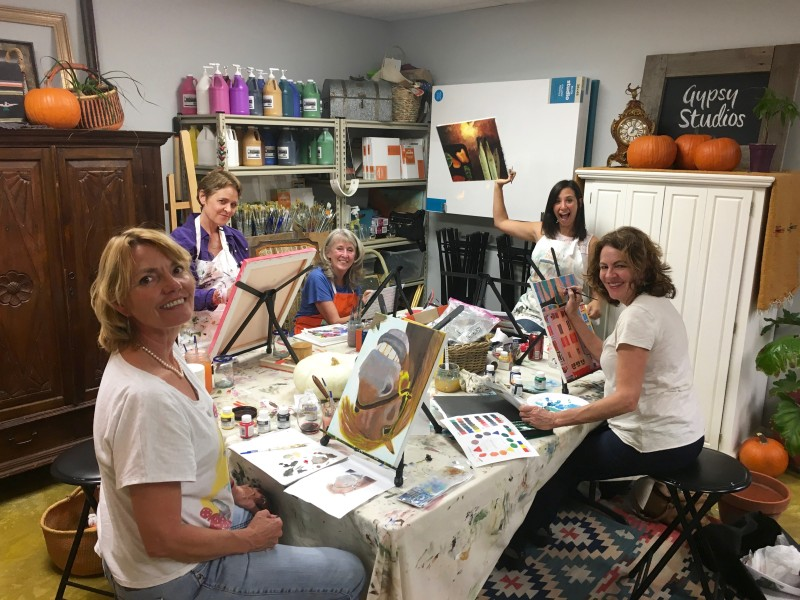 Beginner Painting Classes in Acrylic Art Class, art lessons Santa Ynez Solvang Buellton Los Olivos, Gypsy Studios