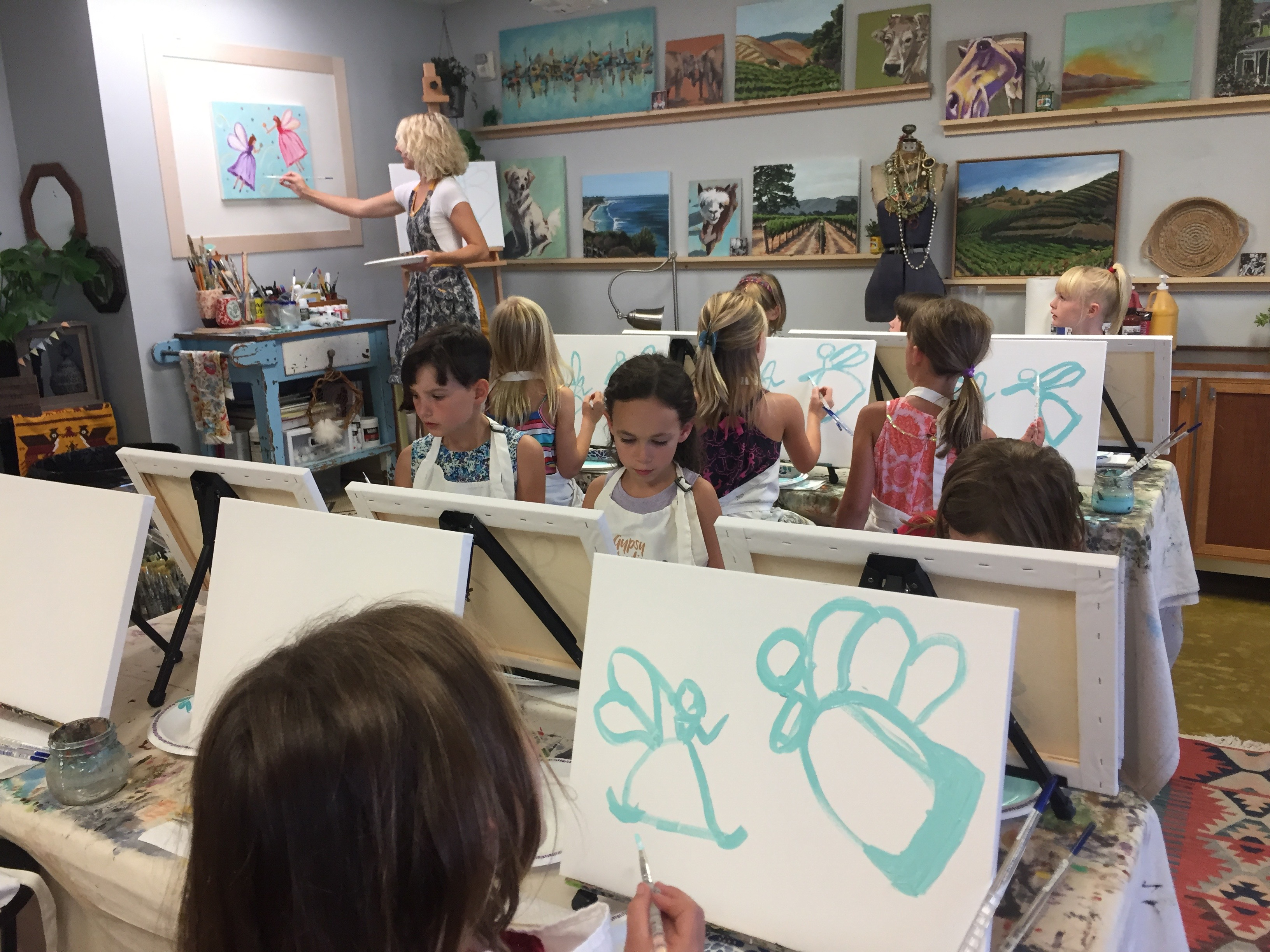 Private Painting Birthday Art Party Buellton kids