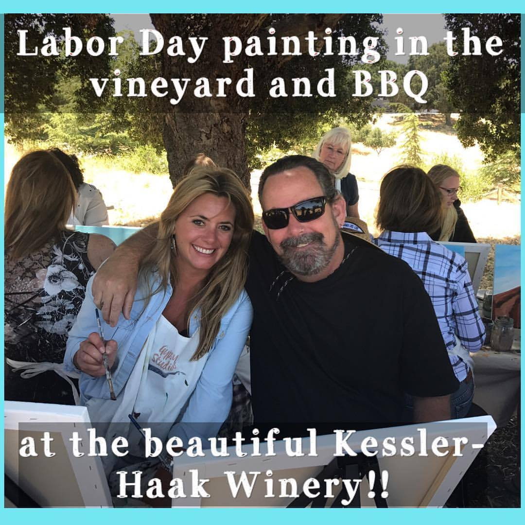 Labor Day Painting, BBQ and lots of Wine!