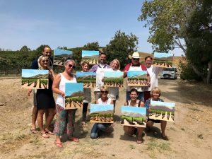 mothers day weekend painting wine tasting santa barbara santa ynez