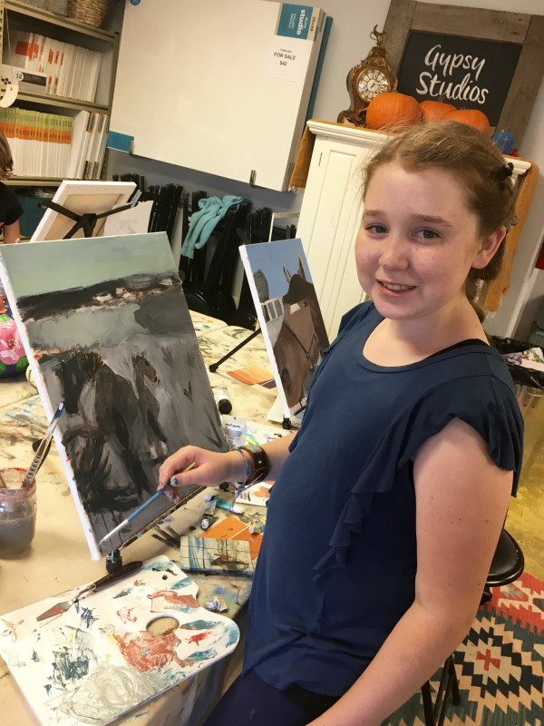 Gypsy Studios Kids Art Class, Santa Ynez Valley, Beginner Painting, Kids Painting Acrylic Class, Solvang, Buellton, Painting class, Buellton Painting Class